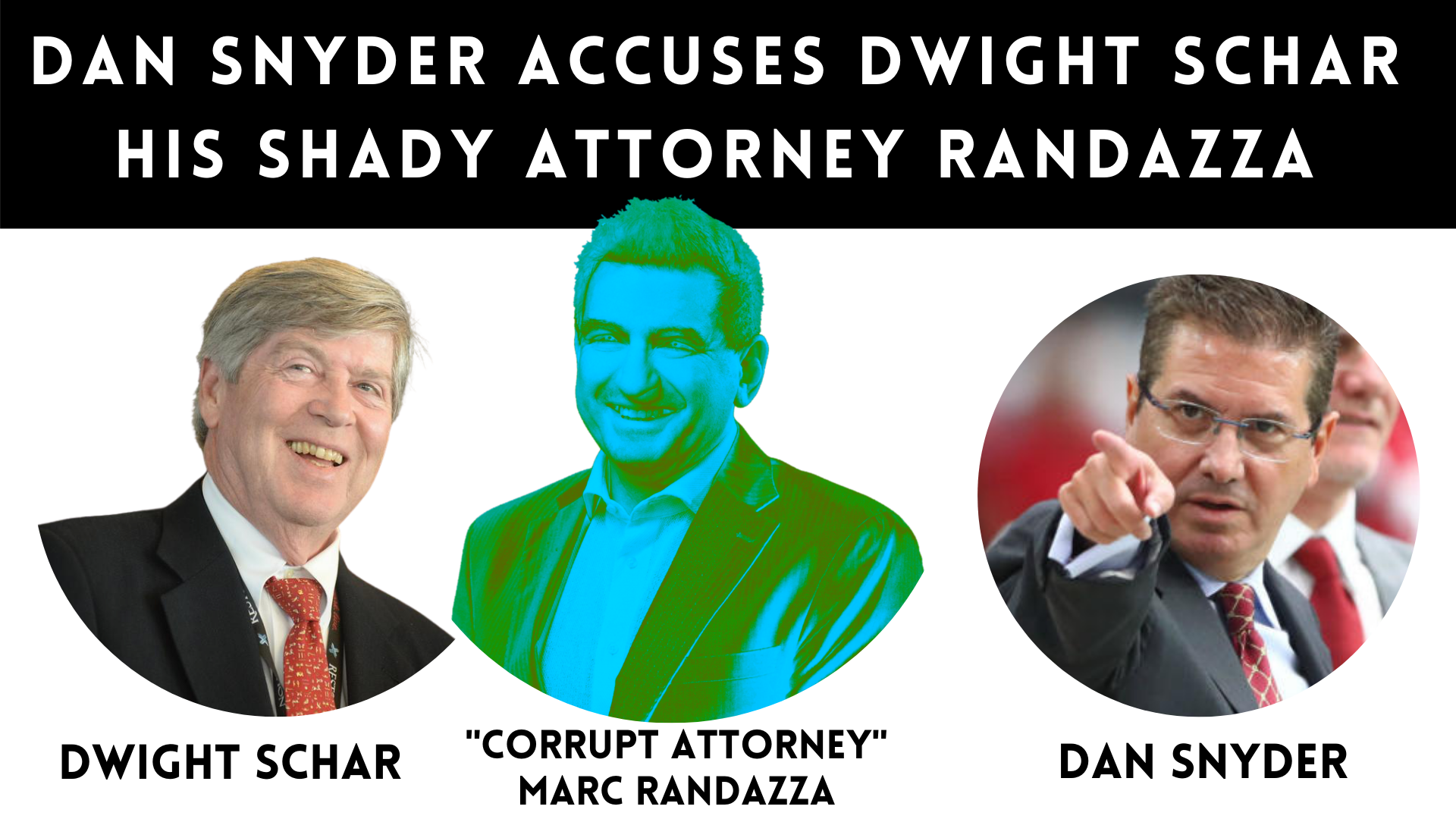 Dan Snyder and Don Juravin Fight Corrupt Marc Randazza and Dwight Schar. Richard Arrighi Joins.